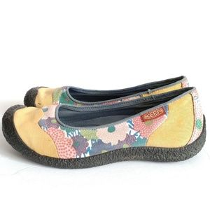 Keen Shoes - KEEN Yellow Harvest Canvas Flats Floral Hiking 8.5